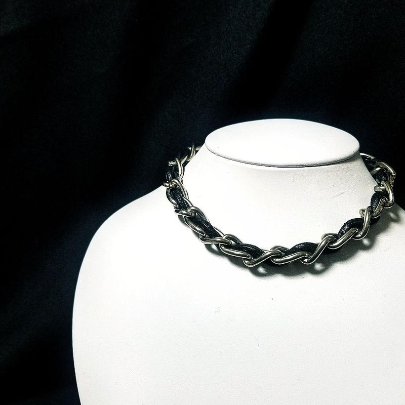Leather CH Necklace