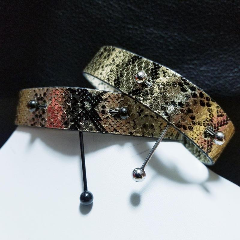 蛇  チョーカー(バーベル)