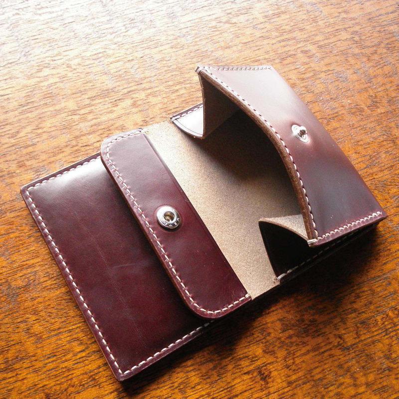 HORWEEN クロムエクセル カード & コインケース 小銭入れ バーガンディ