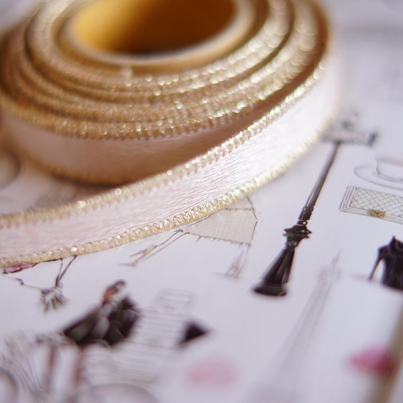 luxury hard ribbon pink gold s