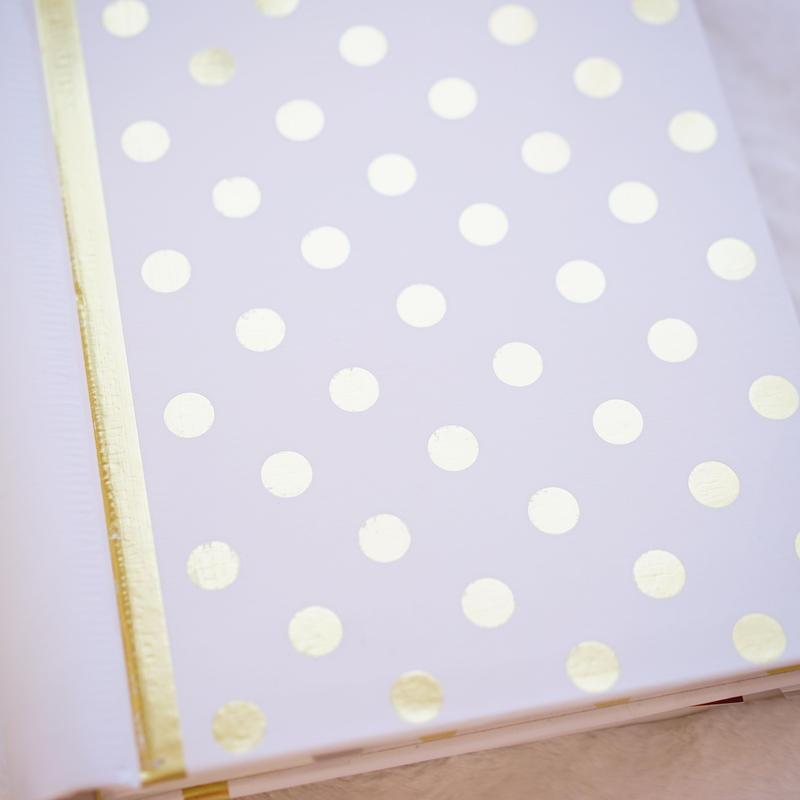 white gold photo album