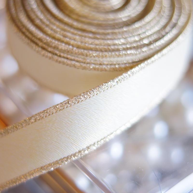 luxury hard ribbon ivory gold太幅