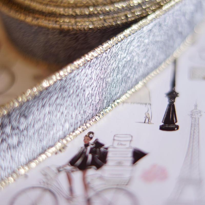 luxury hard ribbon grey gold太幅