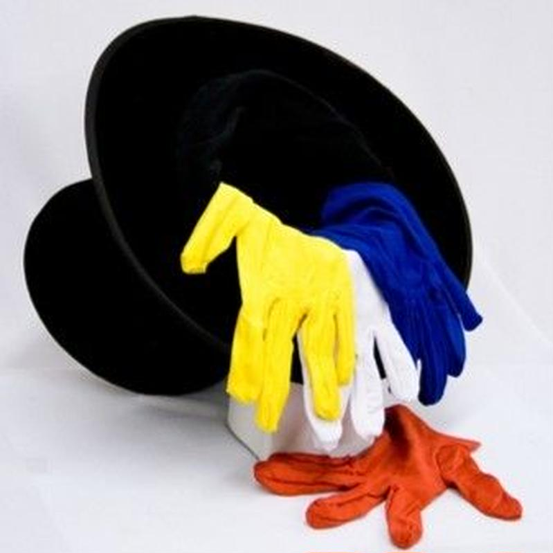 カラーチェンジング・グローブ<ビジュアルに手袋の色が変化>【G1526】Gloves Color Changing