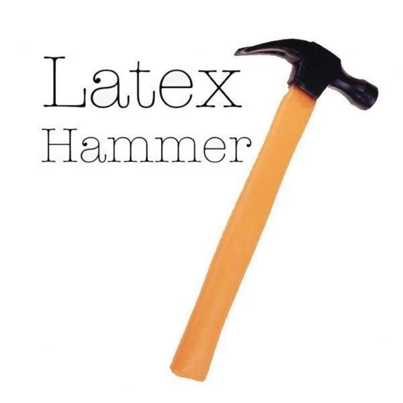 ラテックスハンマー<リアルにできたラバー製のトンカチ、ハンマー>【A0018】LATEX HAMMER