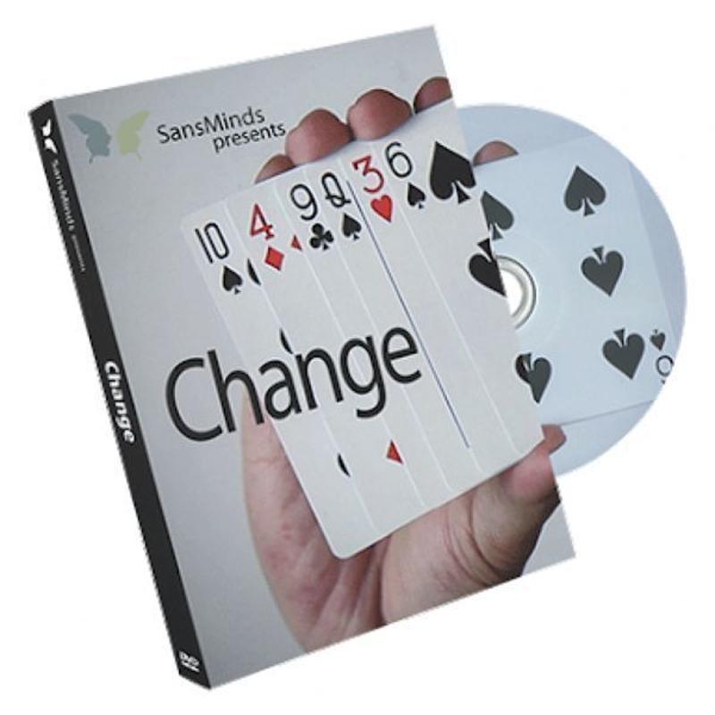 チェンジ<ビジュアルなカードチェンジ>【F0044】Change (DVD and Gimmick) by SansMinds