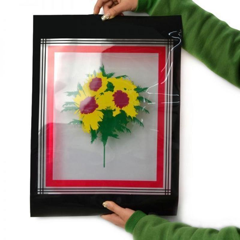 クリスタルフラッシュフラワーフェザー<絵の花が現実に>【G0430】Crystal Flash Flower