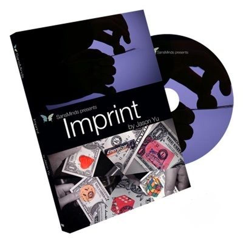 インプリント<まるでCG! 物体が飛び込む!>【M55654】Imprint (DVD and Gimmick) by Jason Yu