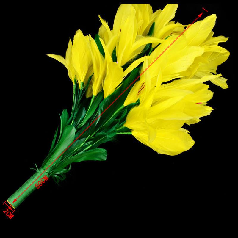 袖花(大)<袖から出す取り出し花>【G0441】Feather Flower from Sleeve
