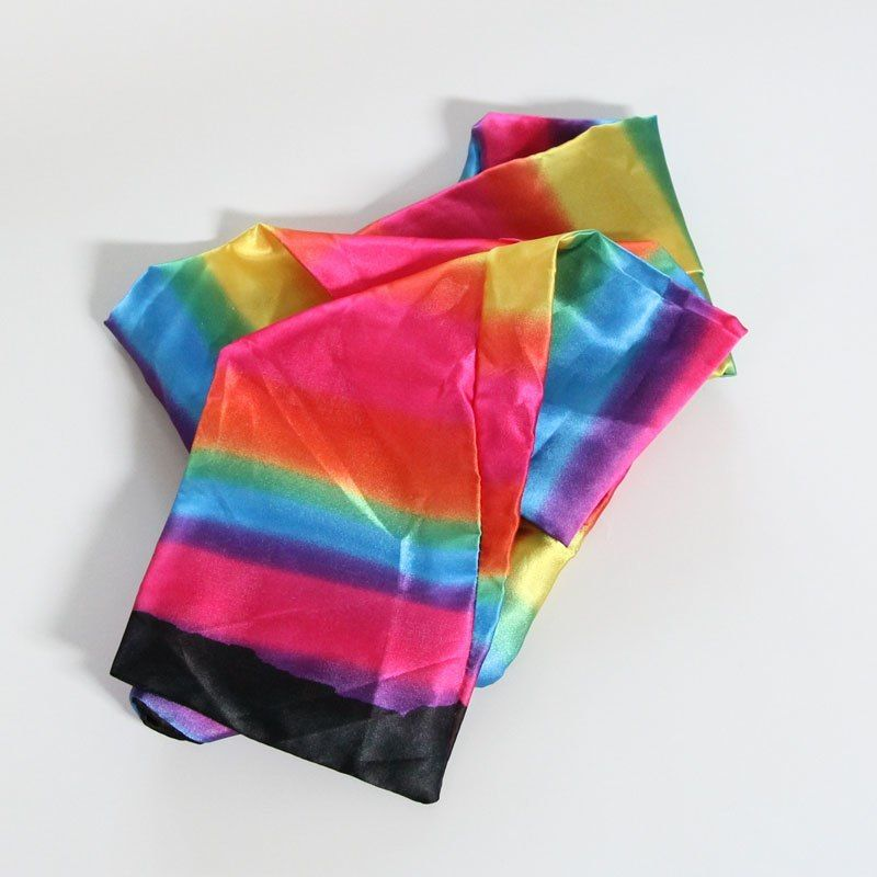 カラーチェンジング・ストリーマー<オープニングに確実なシルクマジック>【G1423】Silk Colour Changing Rainbow Streamer/ Scarf