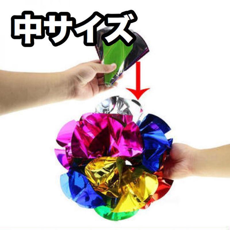 メタリックくす玉(中サイズ)【G0433】Spring Flowers Mylar (Medium)