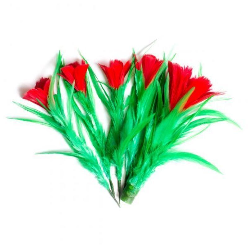 5本に分裂する花<かわいい花の増量版>【G0437】One To Four Flowers-Feather