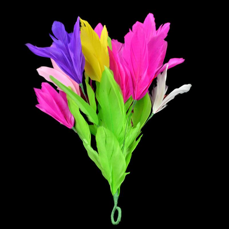 袖花(カラフル)<パッと花が出る>【G1121】Feather Flower from Sleeve (Small)