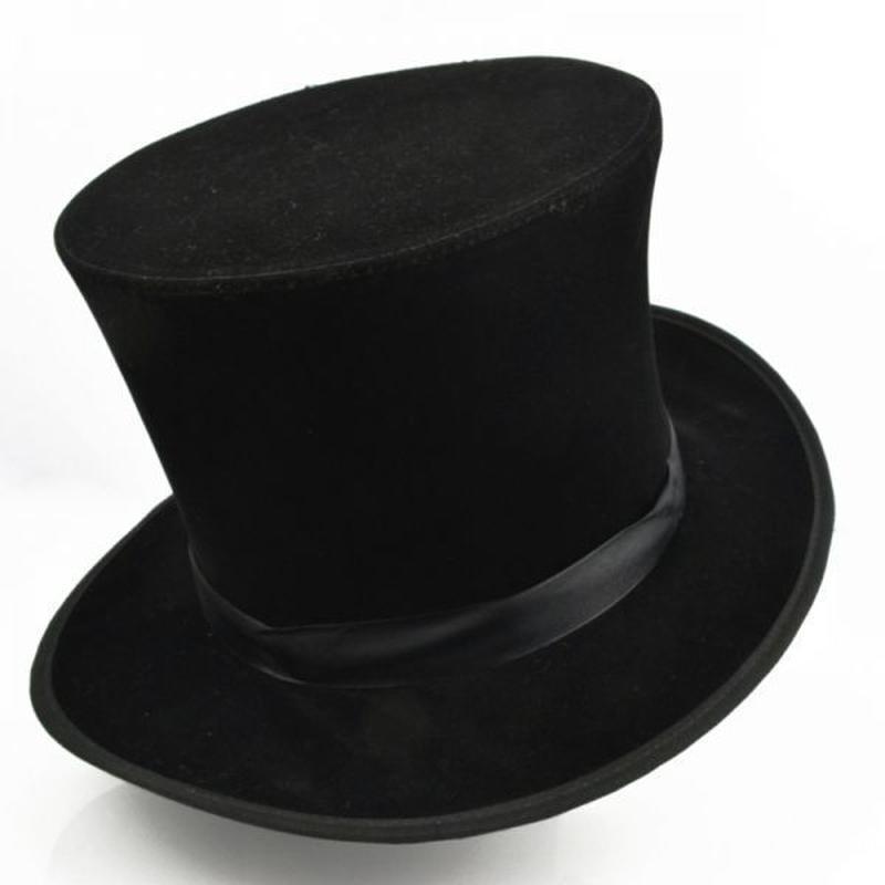 フォールディング・トップハット(黒)【G0159】Folding Top Hat - black