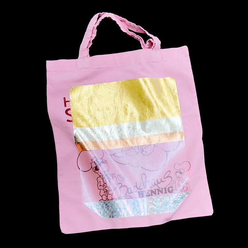 Foil tote bag - PINK