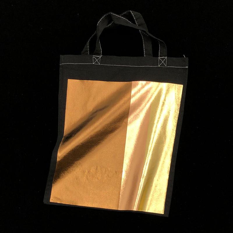 Foil tote bag - BLACK
