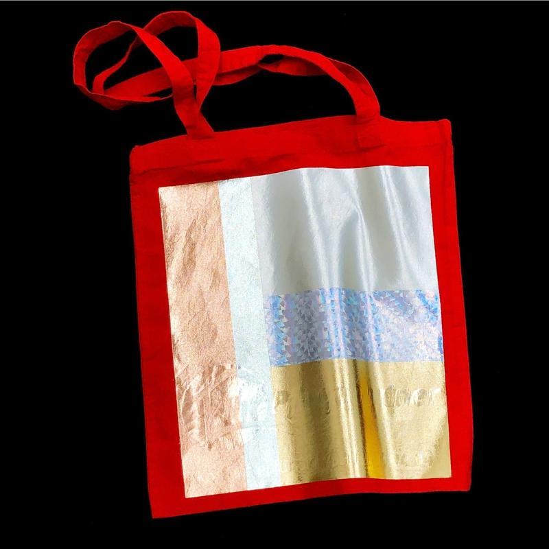 Foil tote bag - RED