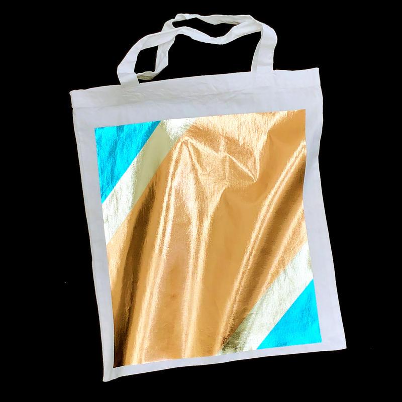 Foil tote bag - WHITE
