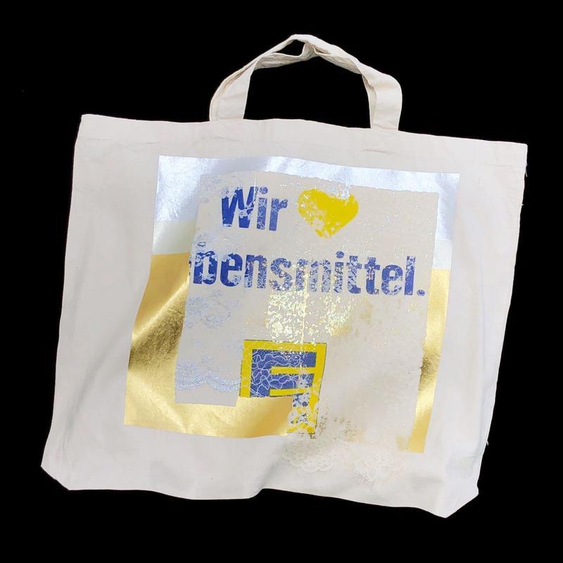 Lace tote bag - WHITE