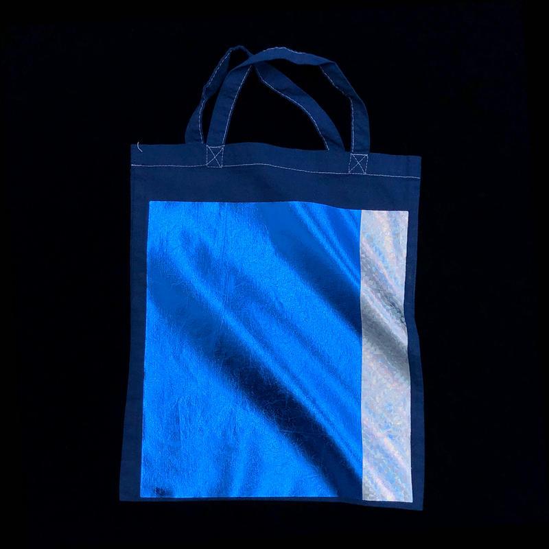 Foil tote bag - NAVY