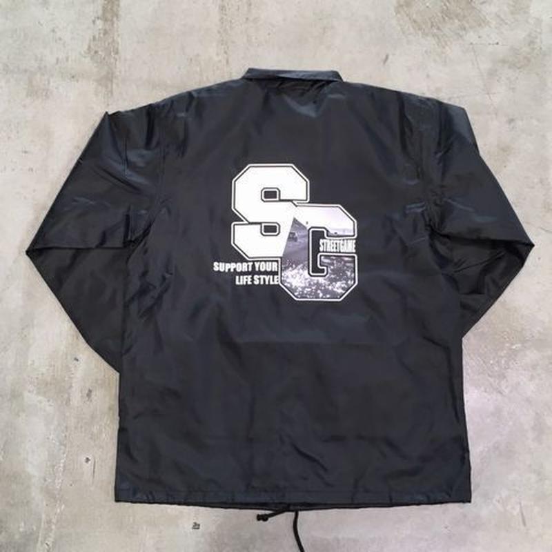STREETGAMEPHOTO. Coach jacket / SG (Black)
