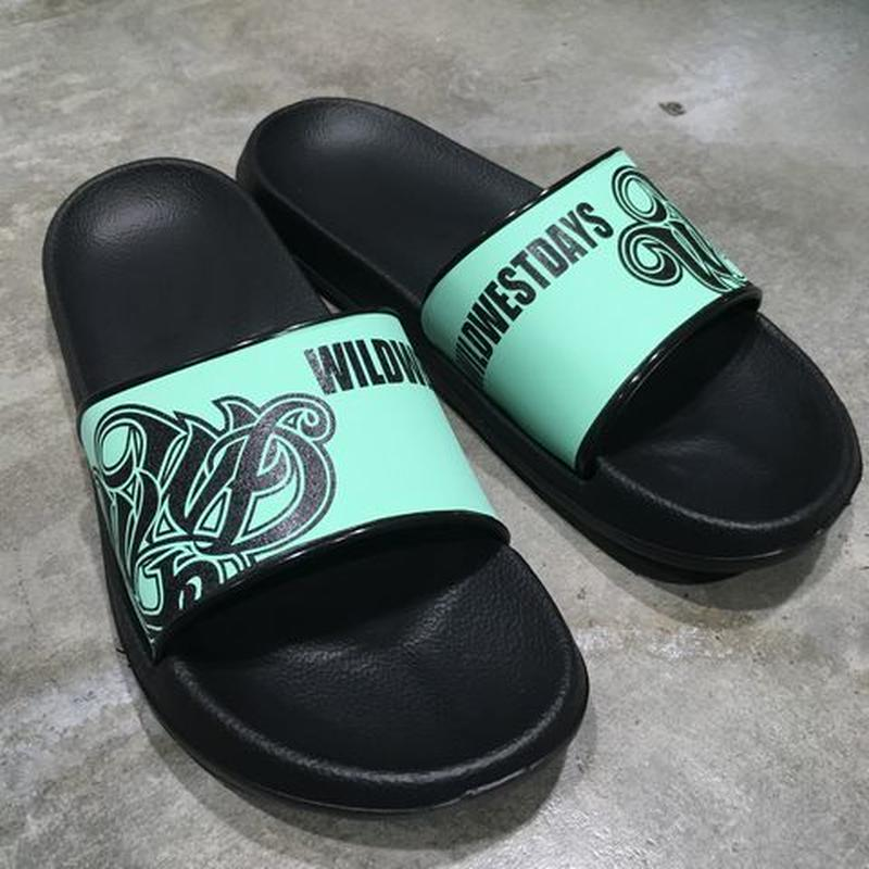 WILDWESTDAYS Slipper / 01 (Black / mint green )
