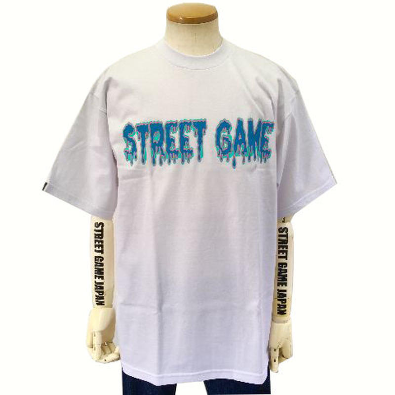 STREET GAME T-Shirts / ICE (Heavy Weight) (White / Sky Blue)