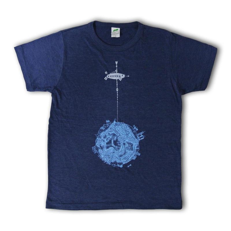 宇宙エレベーターTシャツ メンズ
