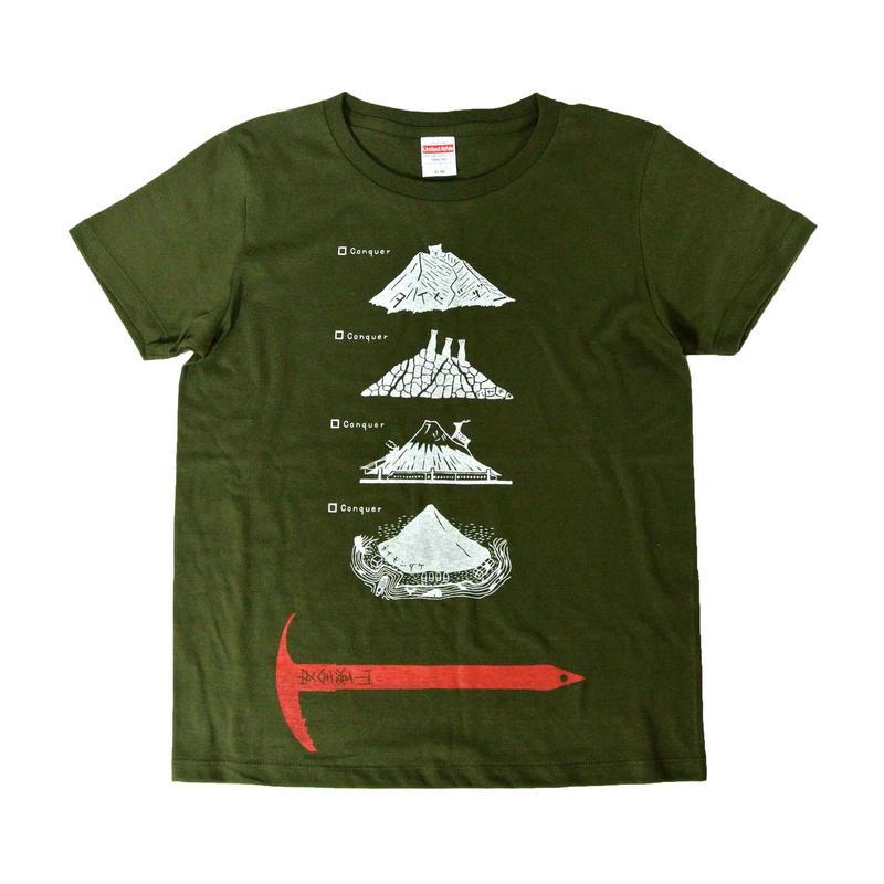全国名山安全登山Tシャツ レディース