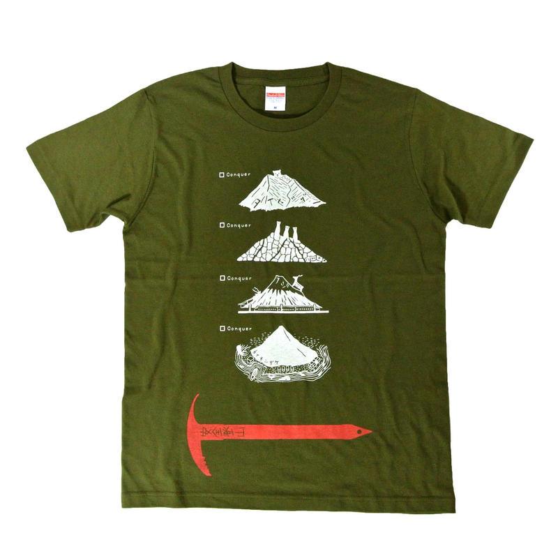 全国名山安全登山Tシャツ メンズ