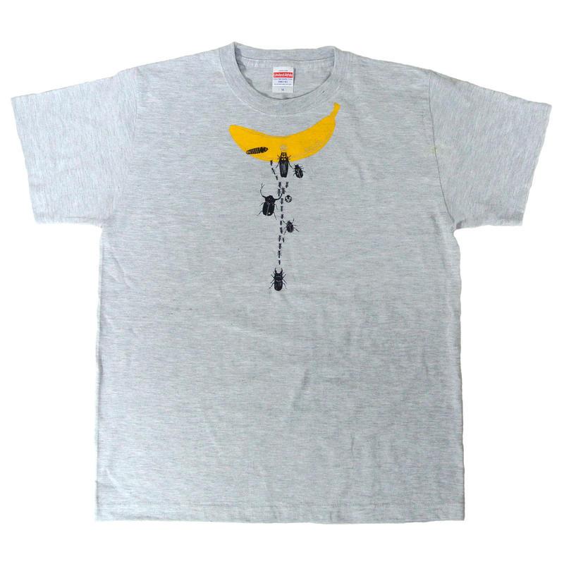 バナナ虫Tシャツ アッシュ メンズ
