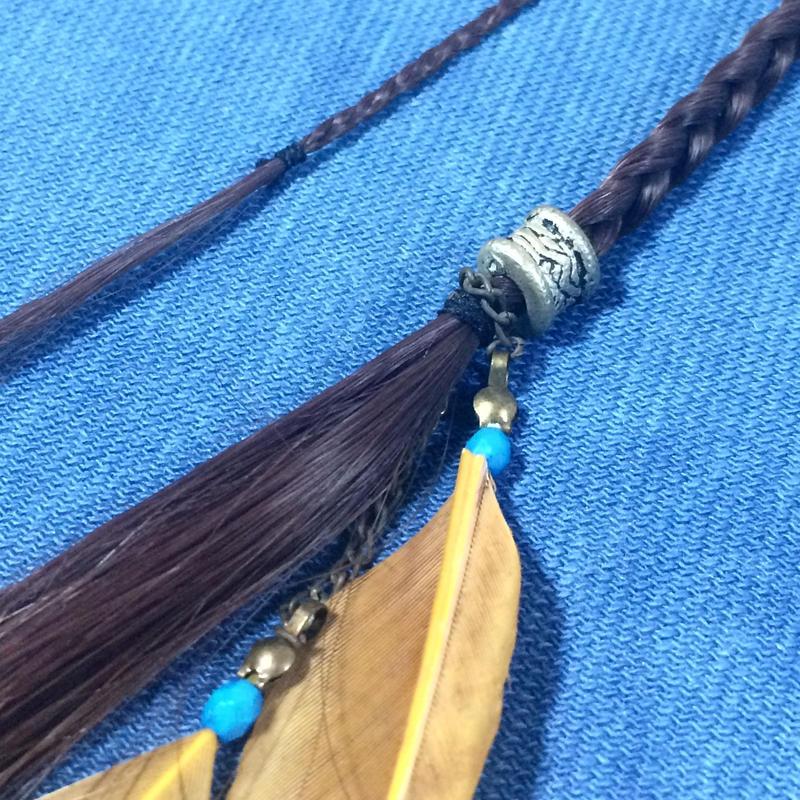 三つ編み ヘアアクセサリー ピン付き 羽根つき ダンス