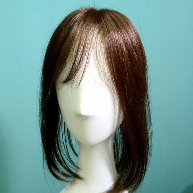 #人毛ミックス#部分ウィッグ#ロング#セミロング#明るいブラウン/トップピース/白髪隠し/分け目/地肌付き/軽量/形状記憶/高品質/メンズ/レディース