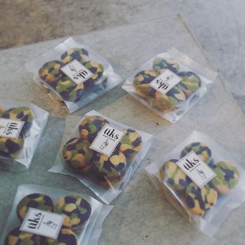 """クッキー""""有機緑茶 ・アーモンド・ブラックココア"""" 8個入り"""