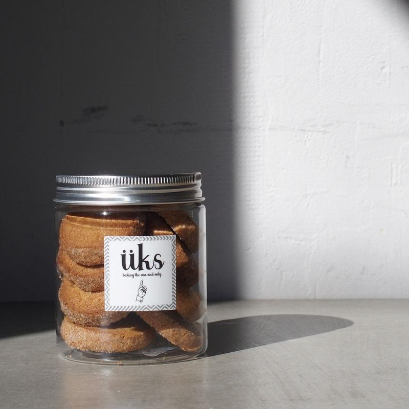 手土産に。PET円筒容器入り  スペルト小麦のクッキー 12個入り