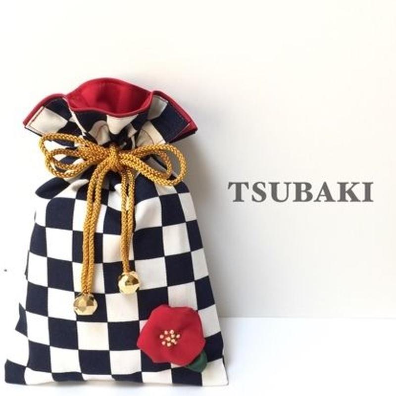 市松模様の巾着袋