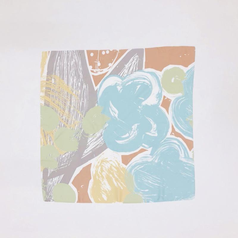 Hand print handkerchief03