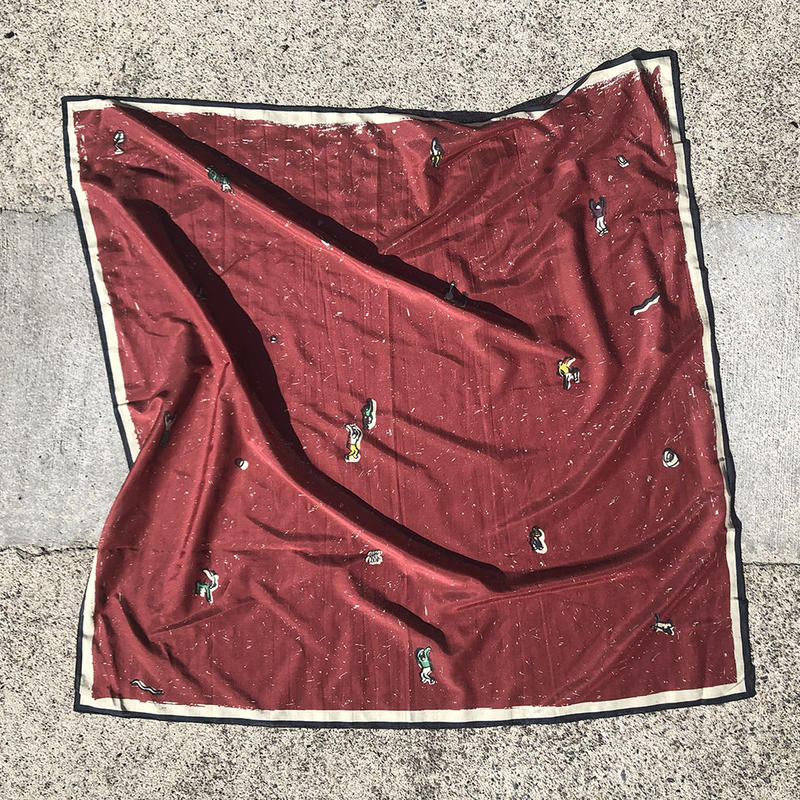 "print scarf ""Dance hall""(winered)"