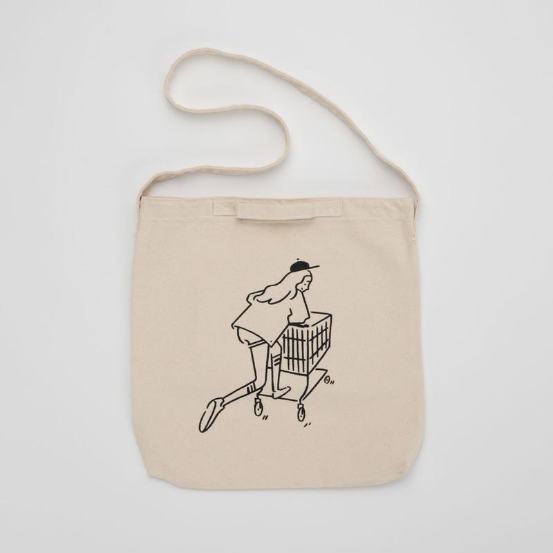 "2WAY Tote bag ""Shopping Girl"""