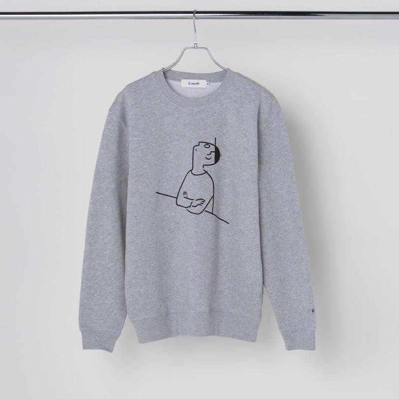 """Sweatshirt """"I DID"""" Gray"""
