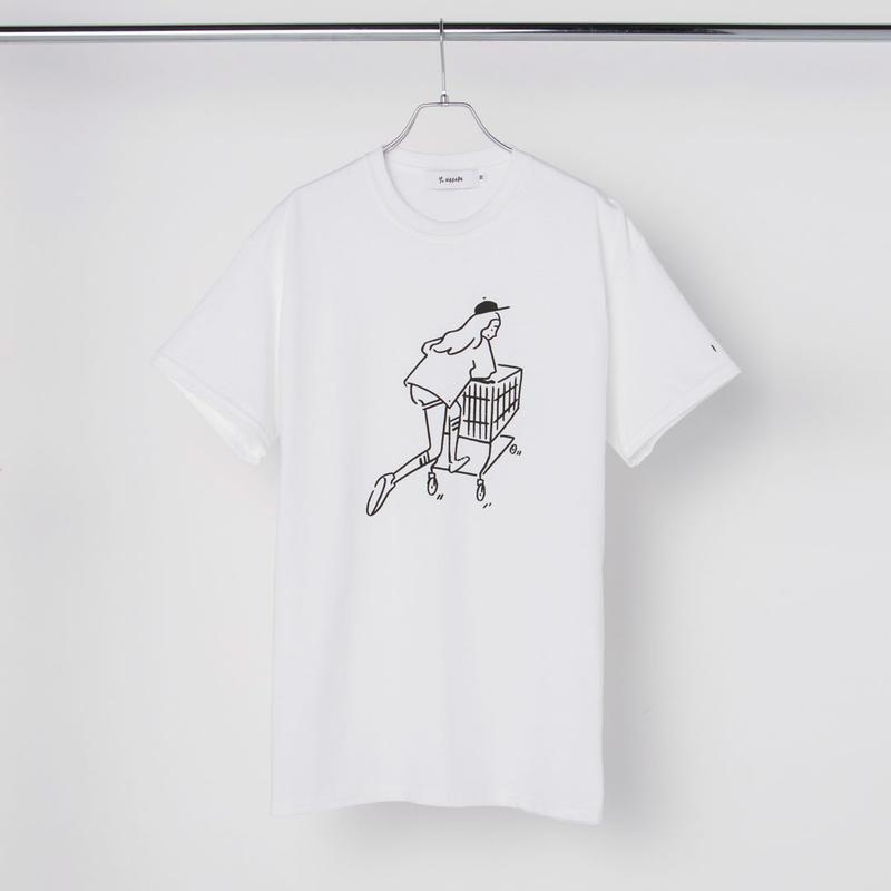 "T-shirt ""Shopping Girl"" White"