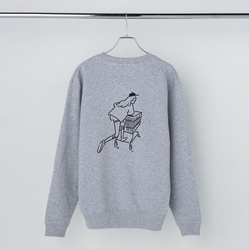 "Sweatshirt ""Shopping Girl"" Gray"