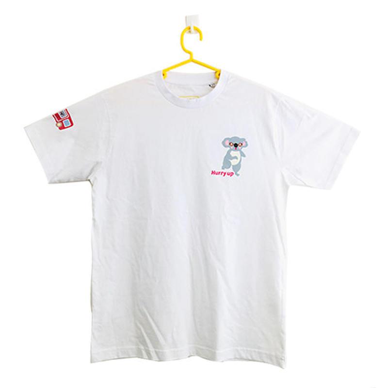 コアのTシャツ Hurry-up! ホワイト