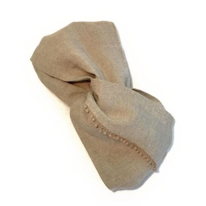 linen&lace重ねの幅広ヘアバンド [itone.]