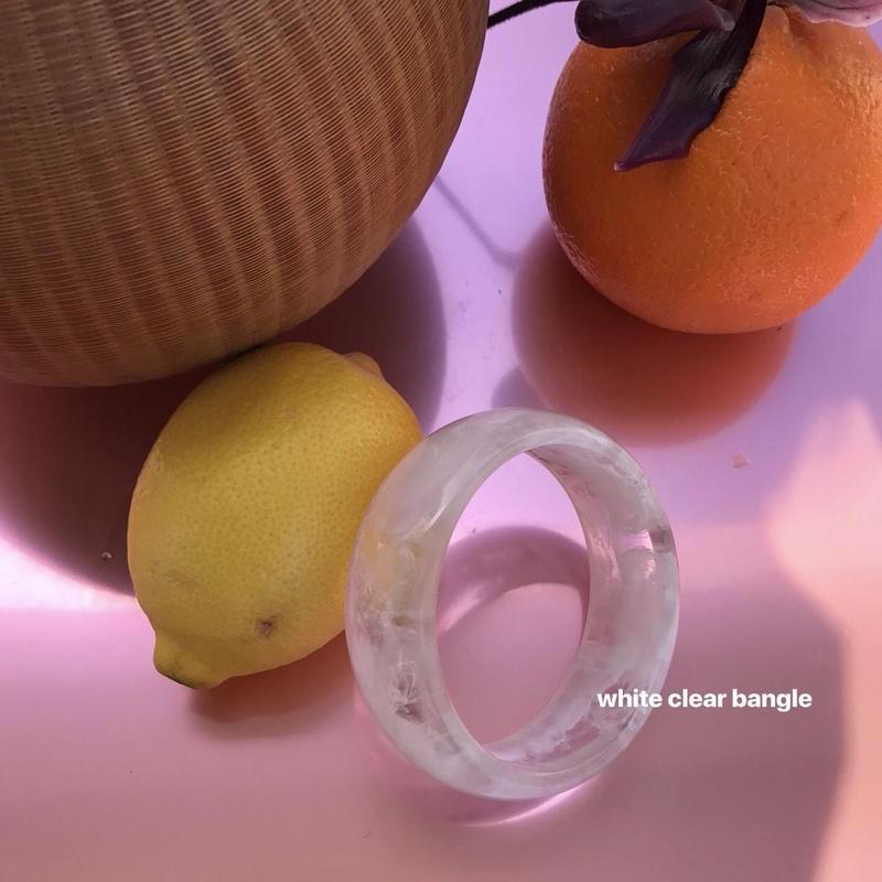 white clear bangle