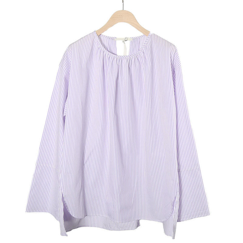 【CNLZ】Boat Neck Shirt/シーエヌエルゼット ボートネックシャツ