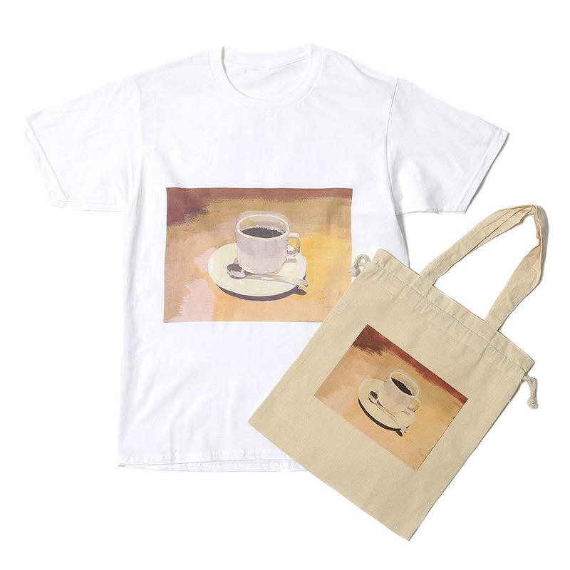 先行予約【Mai Kurosaka×CNLZ】黒坂麻衣 コラボ  珈琲カップTシャツ トートバッグ付き