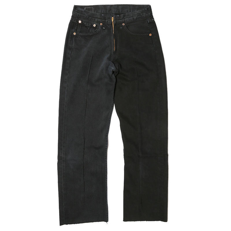 【CNLZ】Vintage Remake Two-Tone Denim Pants/シーエヌエルゼット ヴィンテージ リメイク ツートーンデニムパンツ