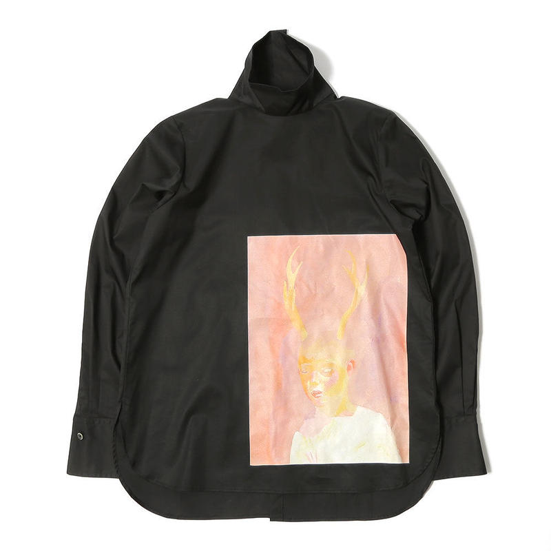 先行予約【Mai Kurosaka×CNLZ】黒坂麻衣コラボ  角の生えた少年 Hign Neck Shirt