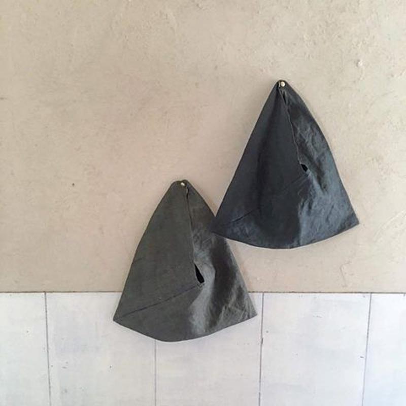 (柿渋+藍)×鉄媒染のあずま袋